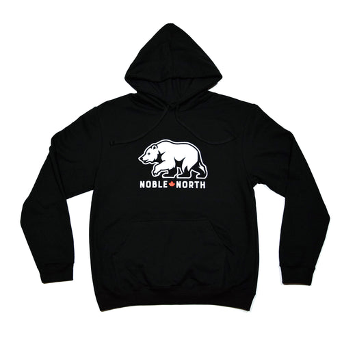 Noble North - Bear Explorer Black Hoodie - Front