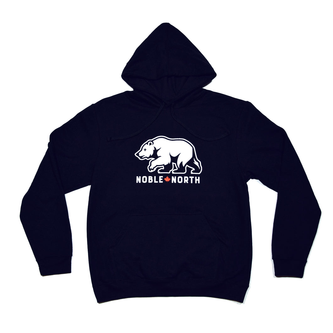 Noble North - Bear Explorer - Navy Hoodie (Unisex)