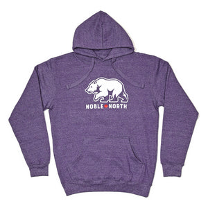 Bear Explorer - Purple Heather Hoodie (Unisex)