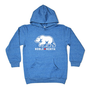 Bear Explorer - Blue Heather Hoodie (Youth)