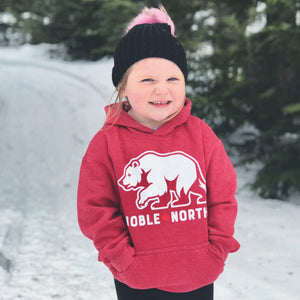 Bear Explorer - Red Heather Hoodie (Youth)