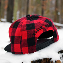 Beaverjax Double Axes - Red Buffalo Check & Black Flannel Snapback (Kids)