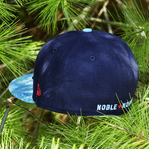 Blue Jay Feather - Navy & Powder Blue New Era 59Fifty - Back