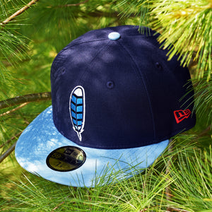 Blue Jay Feather - Navy & Powder Blue New Era 59Fifty - Front