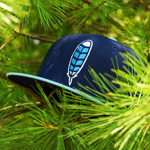 Blue Jay Feather - Navy & Powder Blue New Era 59Fifty - Undervisor