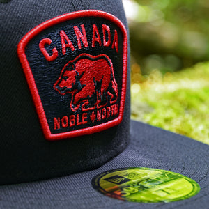 Noble North - Canada Badge - Navy New Era 59Fifty - Close Up