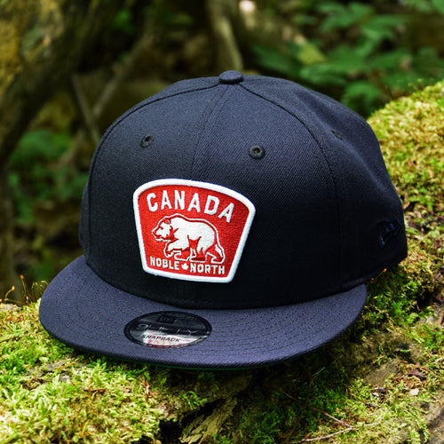 Noble North - Canada Badge - Navy New Era 9Fifty Snapback - Front