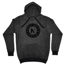 Load image into Gallery viewer, Noble North - Black Heather Hoodie (Unisex)