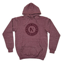 Load image into Gallery viewer, Noble North Company - Maroon Heather Hoodie (Unisex) - Front