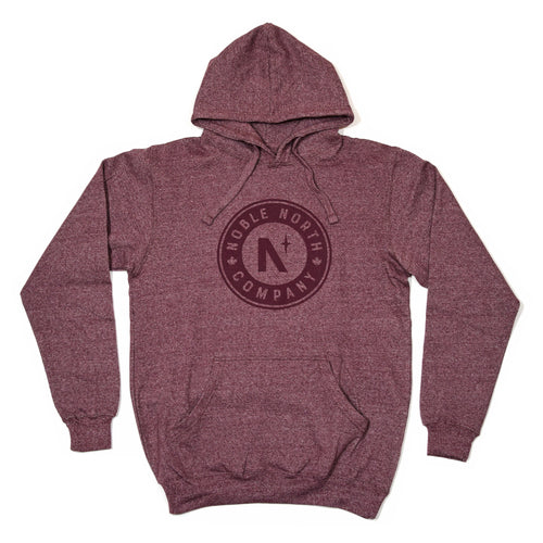 Noble North Company - Maroon Heather Hoodie (Unisex) - Front