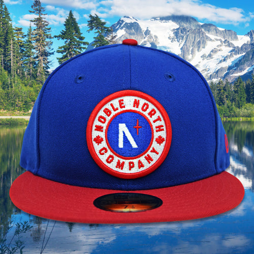 Noble North - Classic Patch - Royal Blue & Red New Era 59Fifty - Front