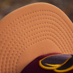 Acorn - New Era 59Fifty Hat - Maroon & Panama Tan Faux Nubuck Visor