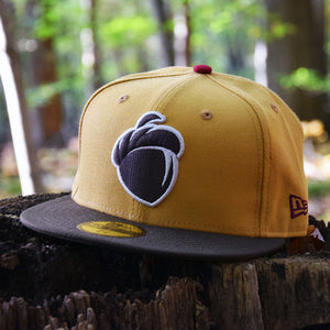 Acorn - Panama Tan & Brown New Era 59Fifty Hat - Front