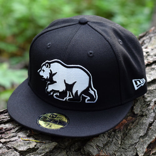 Noble North Co. - Bear Explorer - Black New Era 59Fifty Hat - Front
