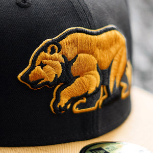 Bear Explorer - Black & Panama Tan New Era 59Fifty - Close Up