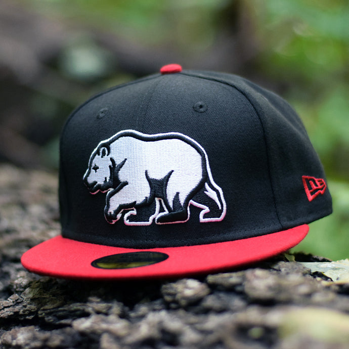 Nobe North - Bear Explorer Black & Red New Era 59Fifty Hat - Front