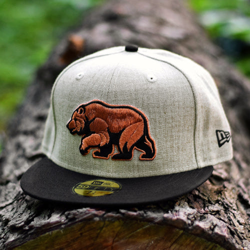 Bear Explorer - Oatmeal Heather & Black Cotton Canvas New Era 59Fifty - Front