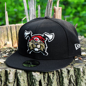 Beaverjax Double Axes - Black New Era 59Fifty - Front
