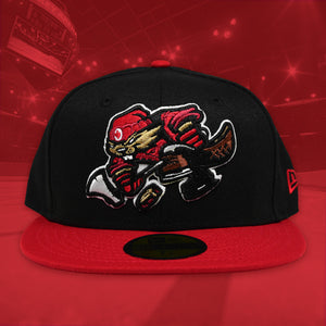 Beaverjax - Black & Red New Era 59Fifty - Front