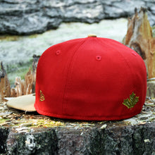 Beaverjax Double Axes - Red & Wheat New Era 59Fifty - Back