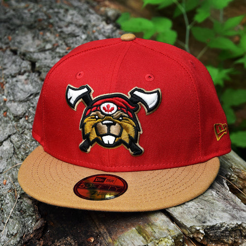 Beaverjax Double Axes - Red & Wheat New Era 59Fifty - Front