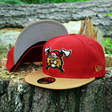 Beaverjax Double Axes - Red & Wheat New Era 59Fifty - Front & Undervisor