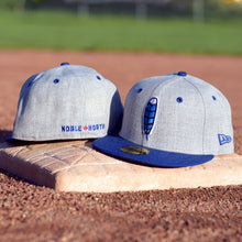 Noble North Co. - Blue Jay Feather - Grey & Royal Blue Heather New Era 59Fifty Hat - Back