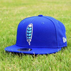 Blue Jay Feather - Royal Blue New Era 59Fifty Hat - Front