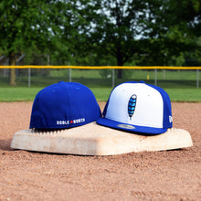 Blue Jay Feather - Royal Blue New Era 59Fifty Hat - Front & Back