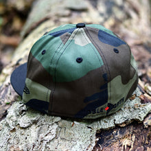 Load image into Gallery viewer, Peanut Squadron - Woodland Camo & Black New Era 59Fifty - Back