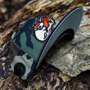 Peanut Squadron - Woodland Camo & Black New Era 59Fifty - Undervisor