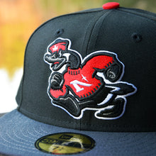 Goose Mascot - Black & Graphite New Era 59Fifty Hat - Close Up