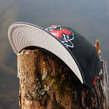 Goose Mascot - Black & Graphite New Era 59Fifty Hat - Undervisor
