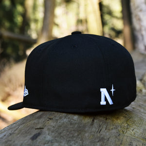 Noble North - Black New Era 59Fifty Hat - Back