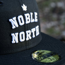 Load image into Gallery viewer, Noble North - Black New Era 59Fifty Hat - Close Up