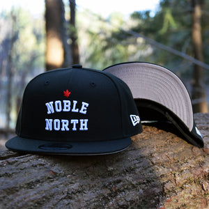 Noble North - Black New Era 9Fifty Snapback Hat - Front & Undervisor