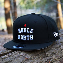 Noble North - Black New Era 9Fifty Snapback Hat - Front