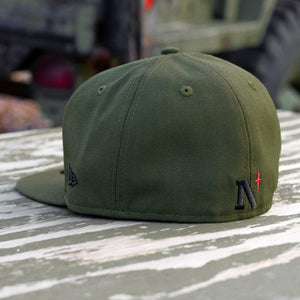 Noble North - Olive New Era 59Fifty Hat - Back