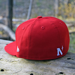 Noble North - Red New Era 59Fifty Hat - Back