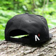 Load image into Gallery viewer, Noble North - White Canada Badge - Black New Era 9Fifty Snapback - Back
