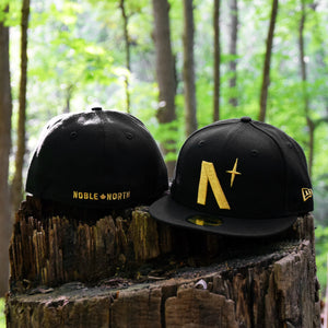 North Star - Black Metallic Gold New Era 59Fifty - Front & Back