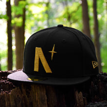 Load image into Gallery viewer, North Star - Black Metallic Gold New Era 59Fifty - Front