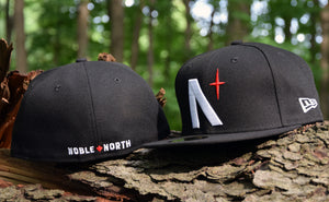 Noble North Co. - North Star - Black New Era 59Fifty Hat - Front & Back