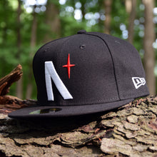 Load image into Gallery viewer, Noble North Co. - North Star - Black New Era 59Fifty Hat - Front