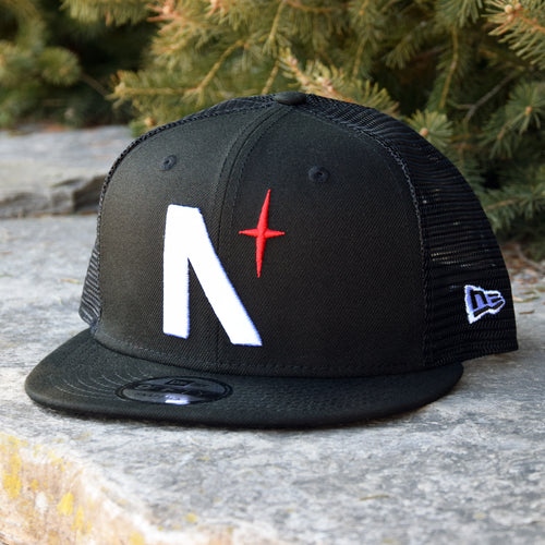 Noble North Co. - North Star - Black New Era 9Fifty Mesh Snapback Hat - Front