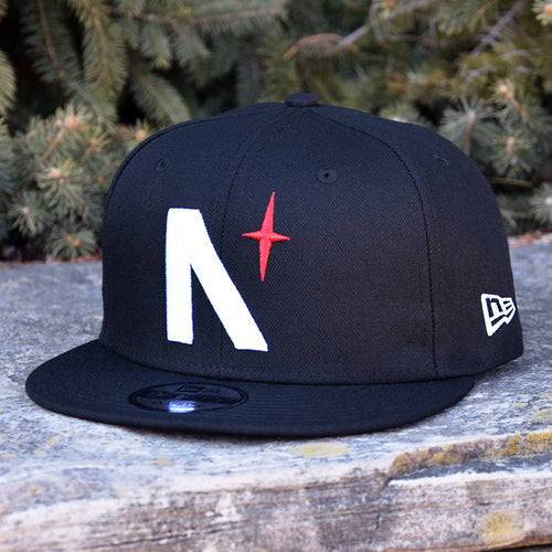 Noble North Co. - North Star - Black New Era 9Fifty Snapback Hat - Front