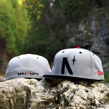 Noble North Co. - North Star - Grey & Black New Era 59Fifty Hat - Front & Back