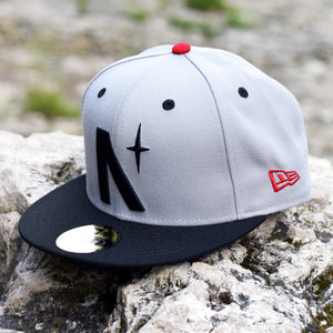 Noble North Co. - North Star - Grey & Black New Era 59Fifty Hat - Front