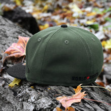 Noble North - North Star - Olive Green & Black Heather 59Fifty - Back