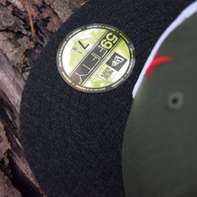 Noble North - North Star - Olive Green & Black Heather 59Fifty - Visor